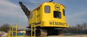 Bagger der Fa. Weserhütte im Deutschen Bimsmuseum